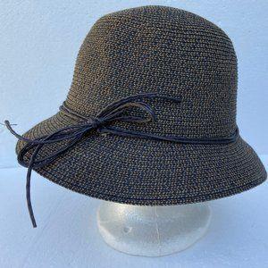 Accessories - NWOT Sun Hat Brown Ribbon